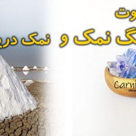 تفاوت سنگ نمک با نمک دریا - کارنیکا استور